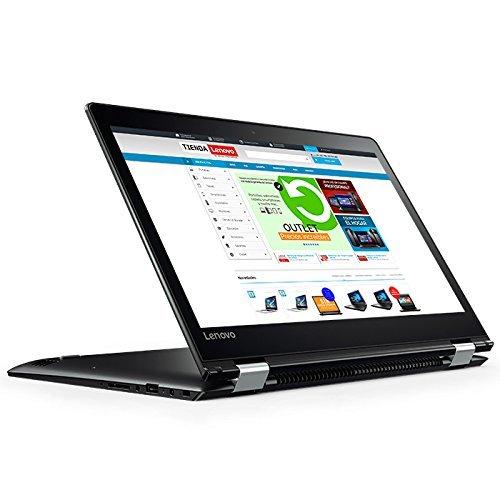 """Lenovo Yoga 510-14- Portátil táctil convertible de 14.3""""HD (Intel I3-7100U, 4 GB de RAM, 256 GB de SSD, Windows 10), negro - teclado QWERTY Español"""