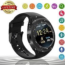 Smart Watch,Relojes Inteligentes Teléfonos Inteligentes Bluetooth Smart Watch Reloj Inteligente Hombre Mujer Niño Reloj Deportivo Reloj Camara Soporte SIM / TF para Android/IOS