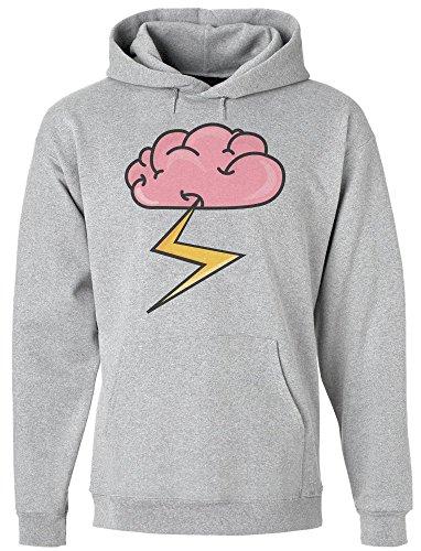 idcommerce Brain Releasing Lightning Bolt Kapuzenpulli für Herren Large -