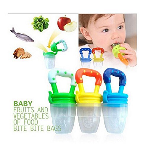 Q4U New Baby Dummy Pacifier Fresh Food/Fruit Feeder Feeding Nipple Weaning Teething Nipple Teat Pacifier Teether Soother 51hx2uhErtL