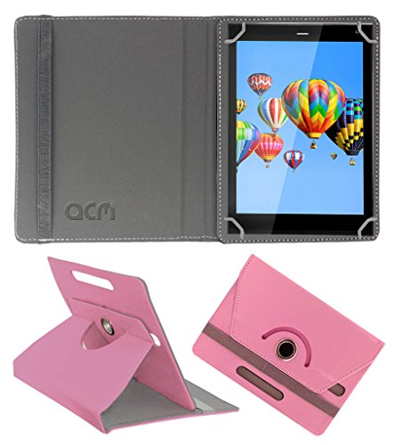 Acm Rotating 360° Leather Flip Case for Digiflip Pro Xt811 Cover Stand Light Pink  available at amazon for Rs.159