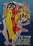 Vintage Travel Vietnam C1965Saigon 250gsm, glänzend,