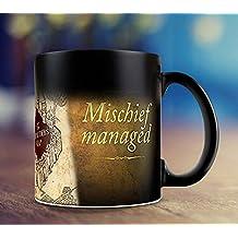 Harry Potter mapa del merodeador I solemnly swear que I Am Up To No Good cambio de color Magic Negro sensibles al calor taza de café, cerámica, Mug
