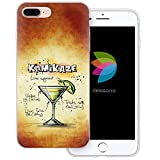 dessana Cocktail Rezepte Transparente Silikon TPU Schutzhülle 0,7mm Dünne Handy Tasche Soft Case für Apple iPhone 7 Plus Kamikaze