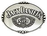 Jack Daniels Gürtelschnalle - Ovale Silberfarben Spiegel Fertig Design - Offiziell Lizenziertes Produkt