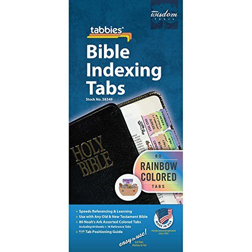 Large Print Rainbow Colored Old and New Testament Bible Indexing Tabs by  Dicksons Gifts