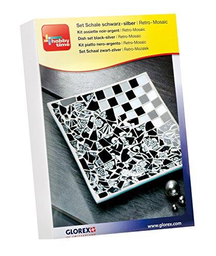 glorex-6-2495-100-creativset-retro-mosaic-schale-quadratisch-spiel-schwarz-weiss