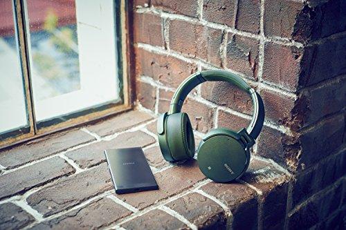 Sony MDR-XB950N1 kabelloser Kopfhörer mit Geräuschminimierung (Noise Cancelling, Extrabass, NFC, Bluetooth, faltbar) grün - 19