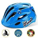 Shinmax Casque de vélo pour Enfants avec lumière LED, certifié CE, Casque...