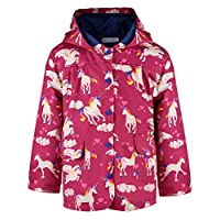 Ephex Little Kid Windproof Waterproof Hooded Coat Jacket Outwear Raincoat 2-12Y