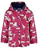 Ephex Small Girls Waterproof Unicorn Print Raincoat Red Raincoat 6Y