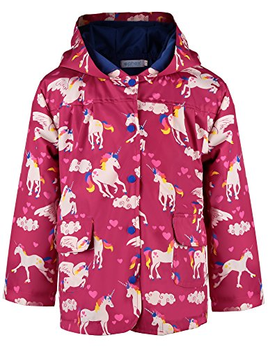 Ephex Little Kid Windproof Waterproof Hooded Coat Jacket Outwear Raincoat 2-12Y