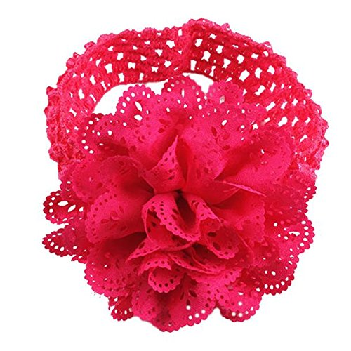 Stirnband, erthome Kinder Baby Mädchen Spitze Blume Haarband Stirnband Dress Up Kopfband (Pink)