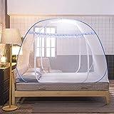 Tina Pop-up Moskitonetz mückennetz,1 Eintrag Frei Installation Insektenabwehr Staubdicht Feinmaschiges Home Reise Camping-A 100x200cm(39x79inch)