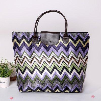 GUMO-Spiaggia sacchi, sacchetti pieghevoli, grande capacità, impermeabile, unica borsa a tracolla e borsa shopping bag,D C