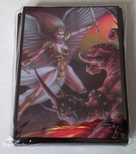 50 Protector Sleeves Angel vs. Demon - Magic Pokemon WoW Kartenhüllen Deck Hüllen (Demon Magic-karten)