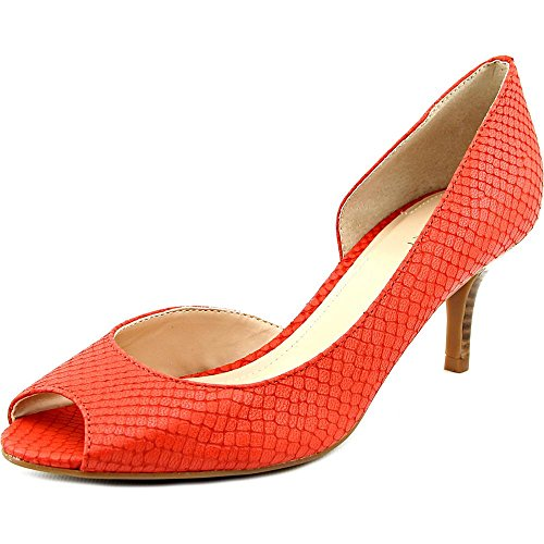 Tahari Jessie Femmes Cuir Talons Blood Orange