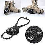Cuigu 1par de Botas de Nieve Antideslizantes de Calzado crampones para Botas de Senderismo, Botas de Camping, Zapatos con Clavos