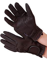 Condados sherpshaw guantes de equitación negro, color Negro - negro, tamaño small