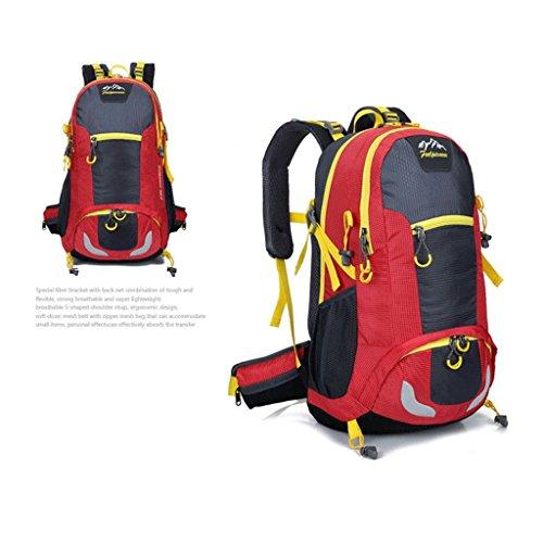 Pathfinder Pionier im Freien Rucksack Bergsteigen Tasche Berg Tasche aus wasserdichtem Nylon-Verschl¨¹sselung Rot