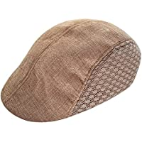 Waroomss Recién llegado de otoño estilo cómodo gorro de boina de boina respirable gorra de golf tapa plana para hombres y mujeres