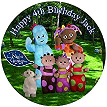 "In the Night Garden Personalized Cake Topper Icing Sugar Paper 7.5"" m3"