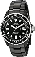 DETOMASO San Remo Men's Automatic Watch with Black Dial Analogue Display and Black Stainless Steel Bracelet Dt1025-E