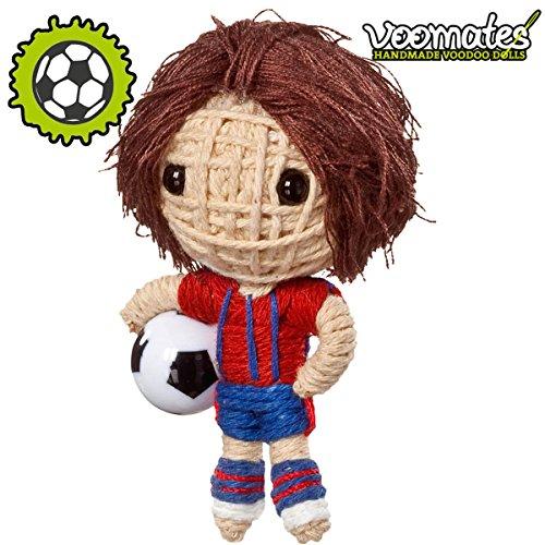 Voomates String Doll Voodoo-Puppen - handgemachte Sorgen-Püppchen Fingerpuppen - Die Handpuppen mit 81 Modelle - Football Wonderkid (Fußballer)