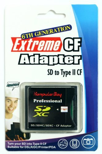 Komputerbay SLIM CF Adapter SD SDHC SDXC WiFi-SD eyefi zu Typ I Compact Flash CF-Karte