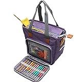 Luxja borsa porta lavoro a maglia, borsa uncinetto, borsa filati per matasse di filati, porta uncinetti, ferri maglia e altri piccoli accessory