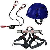 Alpidex Kletterhelm ARGALI + Alpidex Klettergurt TAIPAN + Salewa Klettersteigset Via Ferrata Premium Attac