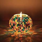 StillCool Mosaik Lampe Leuchten Solarleuchte Geschenke Solar Tischlampe mit Farbwechselmodus, Stimmungslicht Dekolampe für Wohnzimmer, Balkon, ein optimales Geschenk (S-315 Glasierte)
