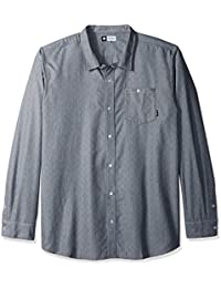 LRG Men's Big and Tall Solace Long Sleeve Woven