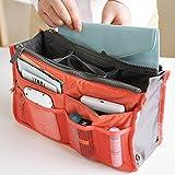 Orpio Women Makeup Cosmetic Organizer Handbag Travel Purse Toiletry pouch