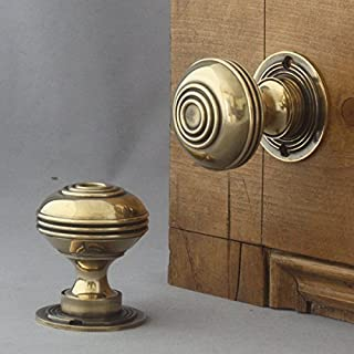 Large Georgian Bloxwich Brass Door Knobs