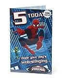 Carlton 418251-0- 2,5cm Disney Spiderman carte d'anniversaire 12,7cm ans Gril...