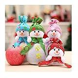 Lalang Schneemann Weihnachten Geschenk Tasche Kinder Süßigkeiten Apfel Geschenk Dekorative (Rot)