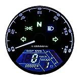 52 mm Tachimetro Digitale LCD Contachilometri per Moto Barche Marine