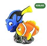 Heritage HCL154 - Figura decorativa pintada a mano para acuario, diseño de pez de Nueva York y Dory Clown y Tang, 10 cm