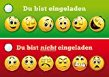 Smiley-Einladungen (Set 4):
