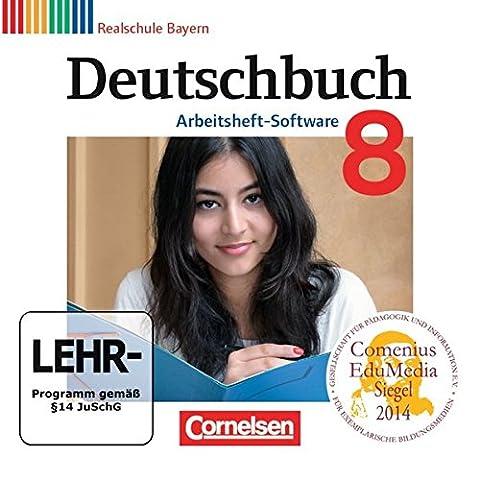 Deutschbuch 8. Jahrgangsstufe. Übungs-CD-ROM zum Arbeitsheft. Realschule Bayern
