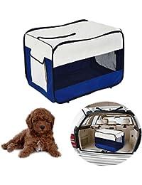 PawHut Transportin Plegable Mascotas Perros Gatos Cachorro Viaje 3 Tamaños Bolsa Coche (L: 76 x 50 x…