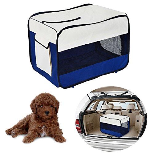 PawHut Transportin Plegable Mascotas Perros Gatos Cachorro Viaje 3 Tamaños Bolsa Coche (L: 76 x 50 x 50cm (L x An x Al))