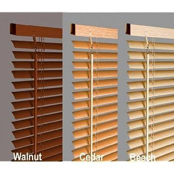 White Wooden Venetian Blind Real Wood 50mm Slats