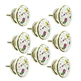#10: JP Hardware pack of 8 Ceramic Knobs for Cabinets & Cupboards| Drawer Pulls