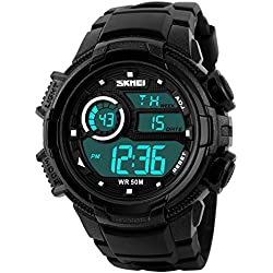 Alarm Date Clock Student Watches LED Digital Waterproof Sport Wristwatch Electronic Climbing Watch