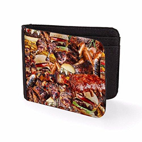 Portefeuille imprimé pour hommes & Porte cartes Nourriture Barbecue