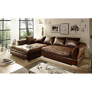 sofa couch wohnlandschaft wildlederoptik anna  form rana