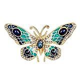 HIDOUYAL Mehrfarbig Schmetterlinge Form Epoxy Broschen Pins Hochzeit Broschen Clip Pin für Frauen Kleid Schal