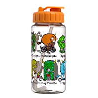 Tyrrell Katz Monsters Design Drinking Bottle with straw